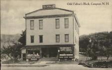 Campton NH Odd Fellow's Block c1910 Postcard
