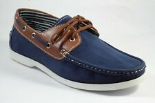 New Velvet And Leather Casual Shoes With Lace Blue Color For Men's