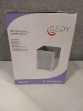 """Gedy Ra09-73 Rainbow Dustbin Box, 2.5"""" L x 7.09"""" W, -Silver"""