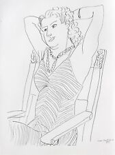 Henri Matisse Lithograph Drawing / Dessins P4 Limited First Edition 1943 Rare
