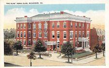A54/ Richmond Virginia Va Postcard c1915 The Elks Home Club Building