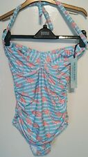 House of Fraser Dickins & Jones Swimwear Suit Costume Flamingo Aqua 32 FF Bnwt