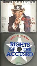 RIGHTS OF THE ACCUSED Give it All you Got PROMO DJ CD Single UNCLE SAM ARTWORK