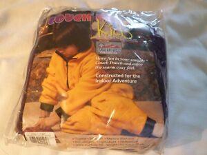 Vtg Couch Pouch Kids Wearable Fleece Blanket Zip Up Robe Lounge Wear Pre-Snuggie
