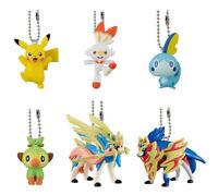 6 Pokemon the Movie Mewtwo Strikes Back Evolution Gashapon Swing Complete Set