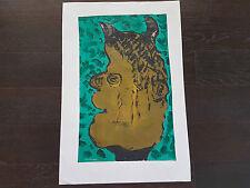 art  COBRA acrylique/gouache sur papier journal signe MICHEL CHAPUIS  benezit