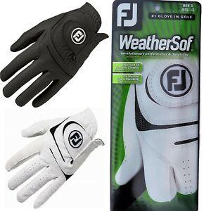 LATEST 2021 FootJoy FJ Weathersof Golf Glove Mens/Ladies Left/Right White/Black