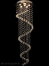 Fashion Long Spiral Crystal droplet 156CM High Ceiling Light Pendant Chandelier