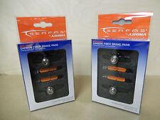 2 Pair Brake Pads Serfas for Carbon Rims Carbon Holders Campagnolo Titanium Nut