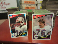 1981+1984 Topps football pick 25 finish your set ex/nm