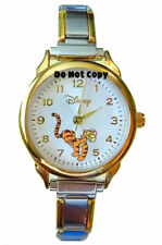 BRAND NEW Disney Jumping Tigger Italian Charm Watch HTF