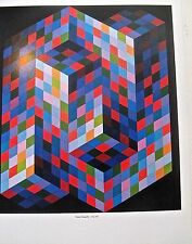Victor Vasarely Izzo-MC  Poster  of  Optical Art Patterns  14X11 Unsigned