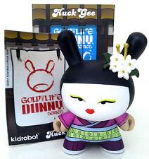 "DUNNY 3"" GOLD LIFE SERIES HUCK GEE GEISHA PLUM PURPLE 2011 KIDROBOT VINYL FIGURE"