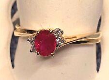 LADIES BEAUTIFUL  RUBY DESIGNED RING IN 14K YELLOW GOLD  RETAIL $ 798.00