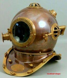 Antique Nautical Anchor Engineering Diving Helmet US Navy Mark V Deep Sea