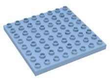 Lego Duplo Platte h-blau 8x8 Grundplatte f. Haus Zoo Eisenbahn Bauernhof au 4665