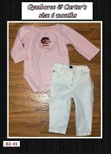 3-6 month Gymboree Porcupine romper & Carter's white pants-pink trim outfit