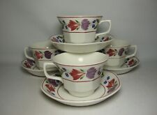 4 x ADAMS OLD COLONIAL TEA CUPS & SAUCERS IN VERY GOOD CONDITION