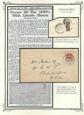 UNITED STATES 1895 ABRAHAM LINCOLN (Scott 269 BISECT) on paper