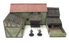 Villa Granja Edad Oscura - 28mm-Mdf montado, totalmente pintado & Personalizadas