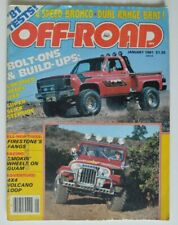 OFF-ROAD magazine January 1981 4x4 Volcano Loop 4-Speed Bronco VW Iltis