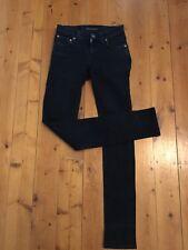 """Nudie Jeans Co Ladies W24 L32 ( Actual 31"""") Very Dark Blue Skinny"""