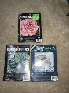 bundle of 3 needlepoint kits 5x5