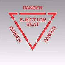 Ejection Seat Decal Authenic Aviation Aircraft Pilot Sticker C Red
