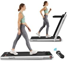 Folding Treadmill Walking Jogging Machine with Bluetooth Speaker LED Display