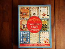 THE ENCYCLOPEDIA OF TWO-HOUR CRAFT PROJECTS BOOK MINI QUILT CROSS-STITCH BEADED