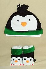 So Dorable Winter Penguin Booties & Hat for a Christmas Baby (SIZE 0-6 Months)