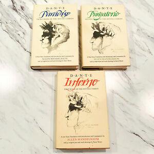 Dantes Inferno Purgatorio Paradiso 3 Book Set Allen Mandelbaum Moser Hardback