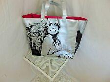 Victorias Secret Big Silver Super Model Shoulder Tote Pristine Beach Bag Anythin