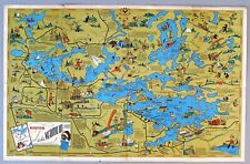 1938 Map of Lake Vermillion, Minnesota by Frank Antoncich for W.A. Fisher Co.