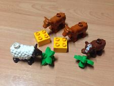 Lego duplo Bauernhof Zubehör Tiere Set Tierbabys Kühe Kalb Schaf