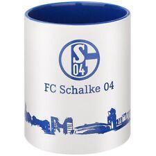 FC Schalke 04 Tasse Skyline Becher Kaffeebecher S04 Logo weiss blau Fanartikel