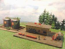 SHELL Grosses Tanklager mit zusätzlichen 2 Tanks BELEUCHTET Spur N A344