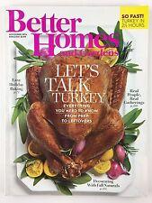 Better Homes and Gardens Magazine November 2016 Turkey Prep Easy Holiday Baking