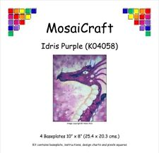 MosaiCraft Pixel Craft Mosaic Art Kit 'Idris Purple' Red Dragon Pixelhobby