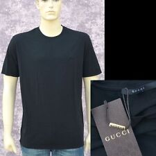 GUCCI New sz L Authentic Designer Mens Cotton Logo T-Shirt T Shirt Black