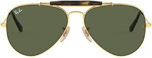 Ray-Ban Sunglasses RB3029 OUTDOORSMAN II  181 Gold green Man