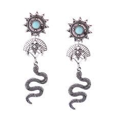 orecchini A perno Argentato Candeliere Serpente Turchese Sole XX23
