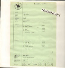 AJAX - LP One World  (Benelux, Wax Trax! 113, 1990) White-Label Test Pressing !!