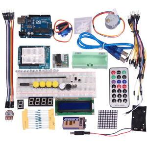 Starter Kit UNO R3 Arduino Lernkit Breadboard LCD LED RFID Motor