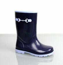 Gucci Kids Children's Blue Rubber Rain Boot w/Horsebit 285287 4073