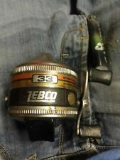 Vintage Zebco 33 #362 Made in the Usa. Free Worden'S Rooster Tail With Each Reel