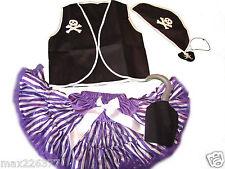 New Halloween pettiskirt Pirate vest skirt costume tutu 3 4 yrs  girl purple