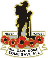 POPPY CAR WINDOW STICKER WITH SOLDIER - REMEMBRANCE SUNDAY