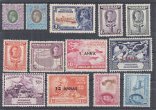 Somaliland Protectorate Sc 70/135 MLH. 1921-53 issues, 13 better singles