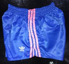 PINK Adidas Nylon Sprinter Shorts Glanz Vintage Football Swim Retro Gym Running